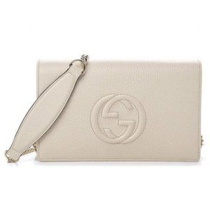 Gucci Chain Wallet Soho New Logo Embossed Disco